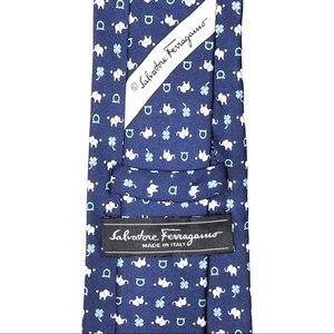 Salvatore Ferragamo Accessories - Salvatore Ferragamo Elephant Gancini Silk Tie